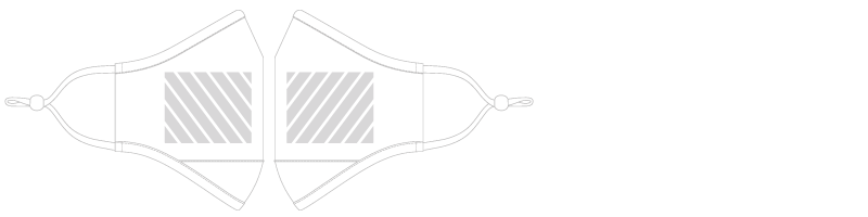 Gezichtsmasker  Zeefdruk