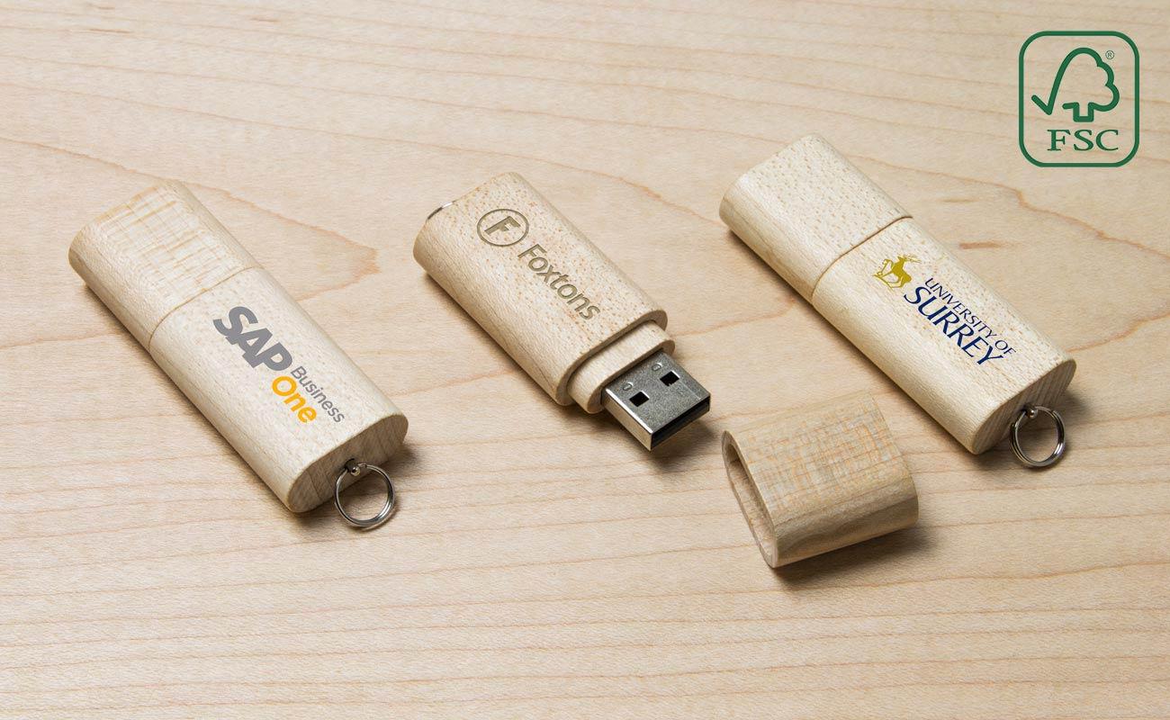 Nature - Houten USB Stick Met Logo