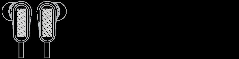Oortelefoons Zeefdruk